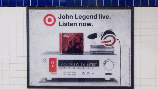 photograph of ad in subway