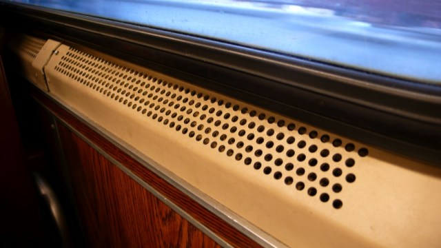 window sill of a train