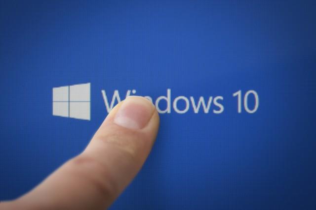Windows 10 finger