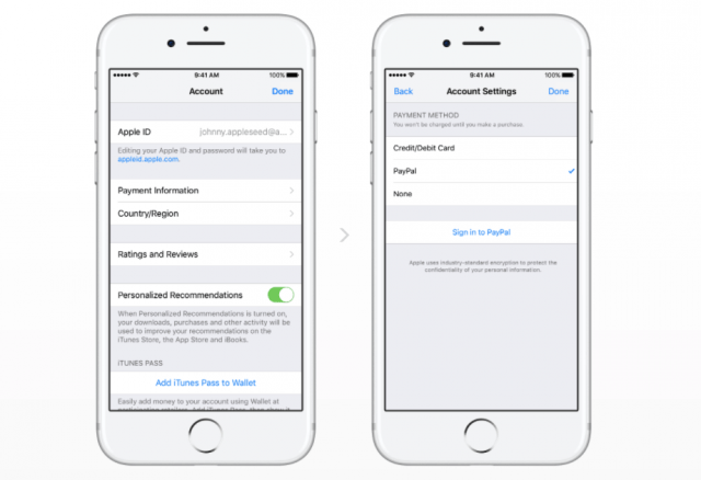 iPhone and iPad users can now add PayPal as a payment option
