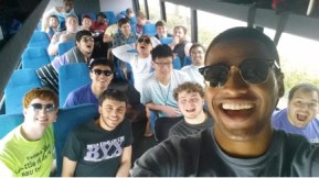 Here are the men of HBU BYX on a charter bus headed out to an all chapter retreat. Aren't BYX retreats top notch? They had the opportunity to unplug from the distractions of technology, the demands of a college student and truly dwell in unity for the entire weekend. These men shared life together in an authentic way through cell group break out sessions, testimony sharing, devotionals, prayer and worship.