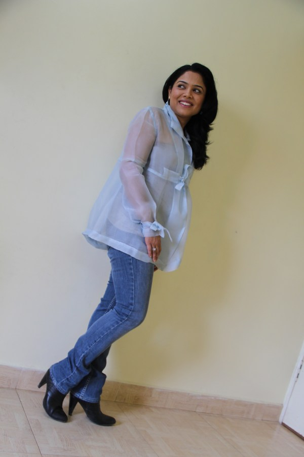 Lady In Boots And Wear With Babita