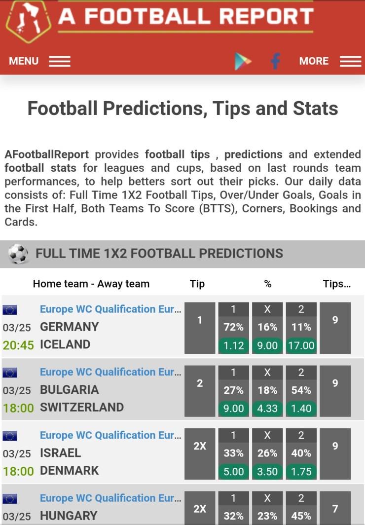 AFootballReport Homepage