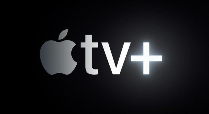 Apple stock price with TV+
