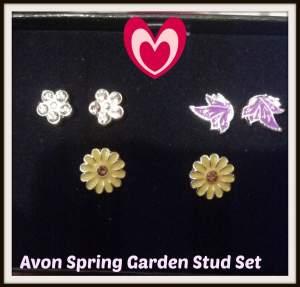 Avon Spring Garden 3-Pair Stud Set