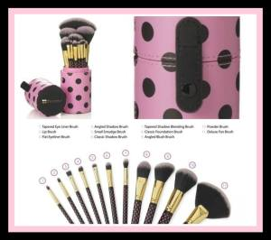 BH Cosmetics 11 Piece Pink-a-Dot Makeup Brush Set