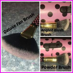 BH Cosmetics 11 pcs Pink-A-Dot Brush Set Collage 2