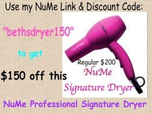 NuMe Discount Code bethsdryer150