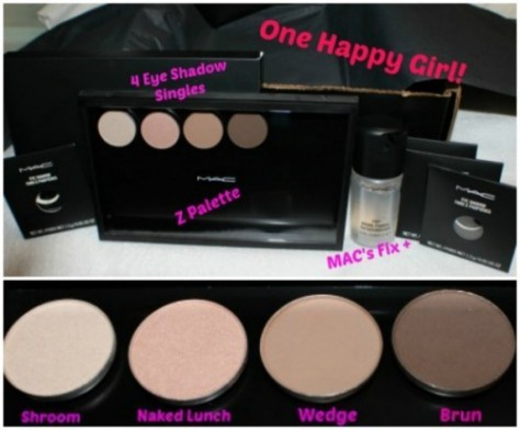 MAC Z Palette etc Birthday Haul Collage