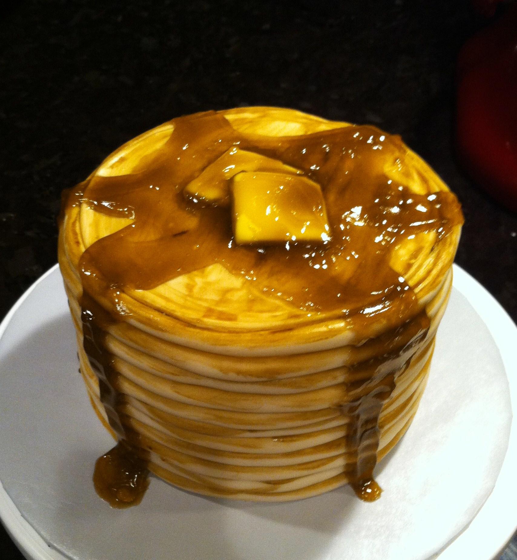 Pancake Birthday Cake