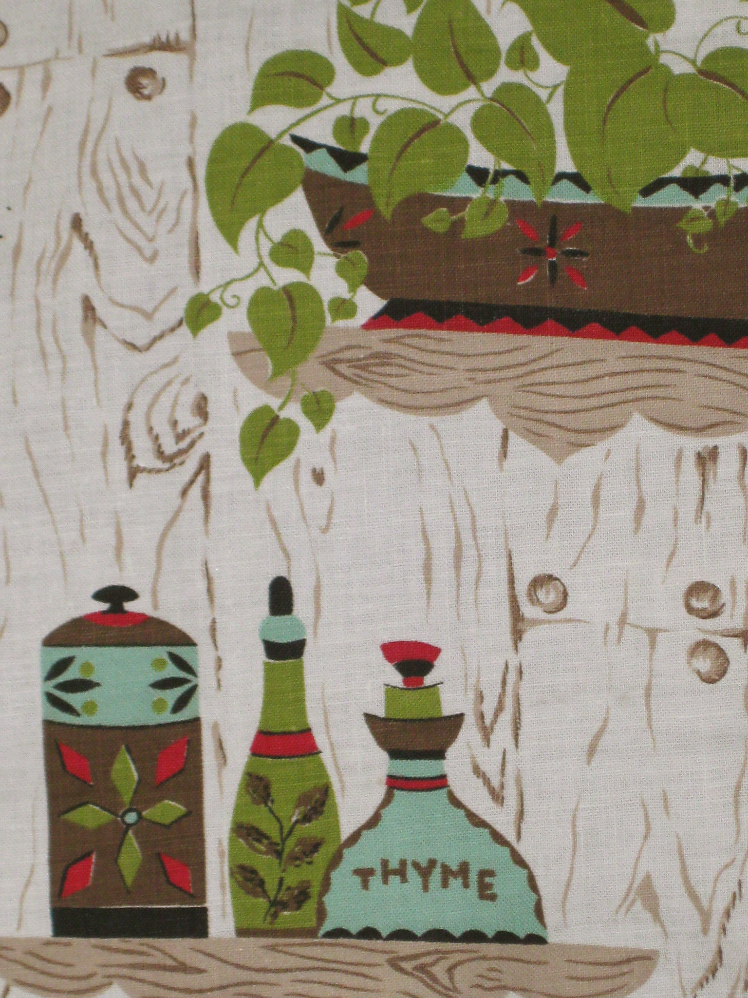 kitchen curtain fabric for sale all in one units retro clothed scarlet