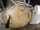 Use an electric mixer. This makes mixing so much easier!