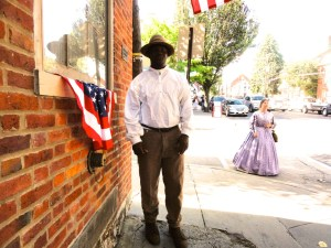 Black reenactor with the 14th Tennessee