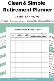 Retirement Planner Retirement Budget Financial Planner Retirement Printable 01