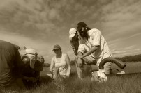 Working with Logan Science Journalism Fellows, Plum Island, MA (Photo by David S. Johnson)