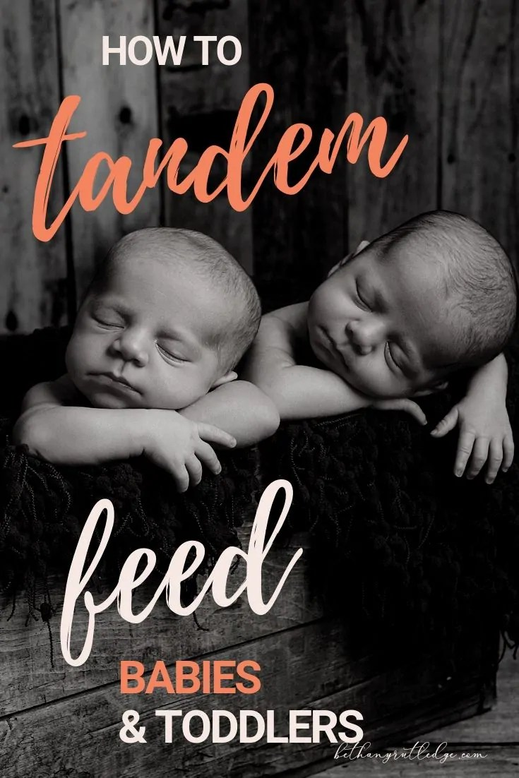 how to tandem feed twins to save time