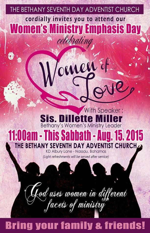Bethany Seventhday Adventist Church  Womens Ministry