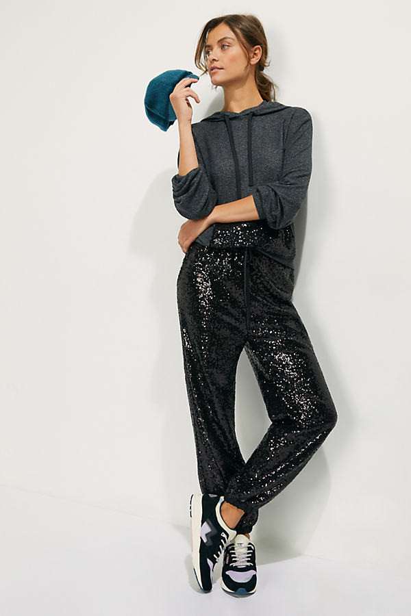 sequined joggers - Your Best Holiday Style