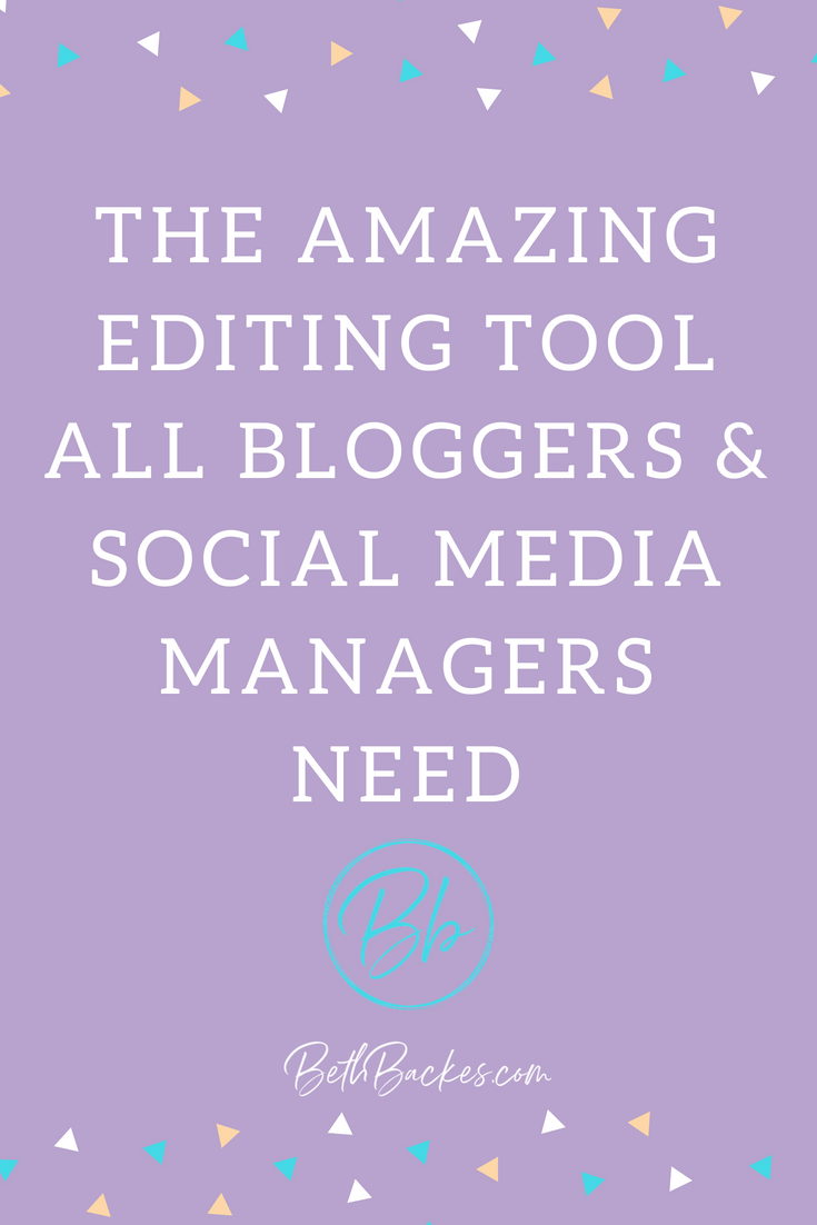 Don't loose followers or clients because of typos! Use this great editing tool to help you display your best writing in any blog or social media post you do.