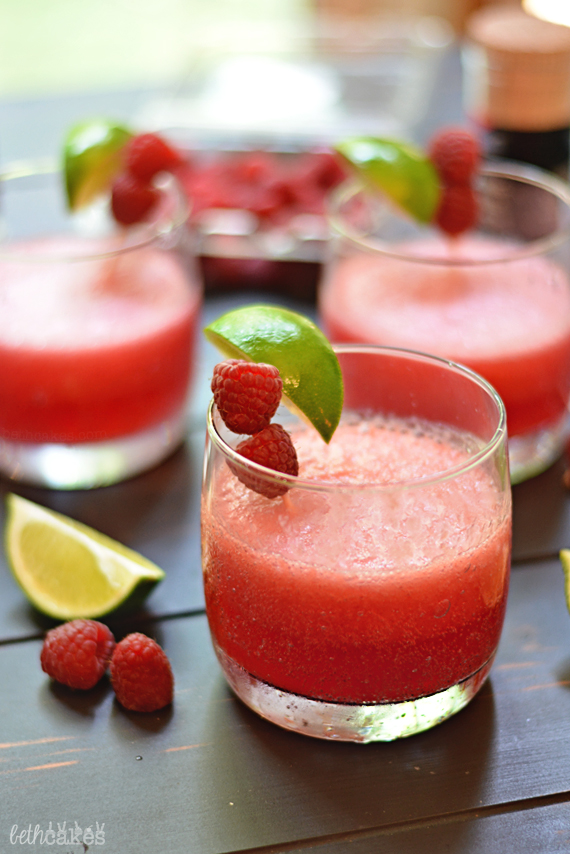 Raspberry Beergaritas! The perfect summer party marg. bethcakes.com