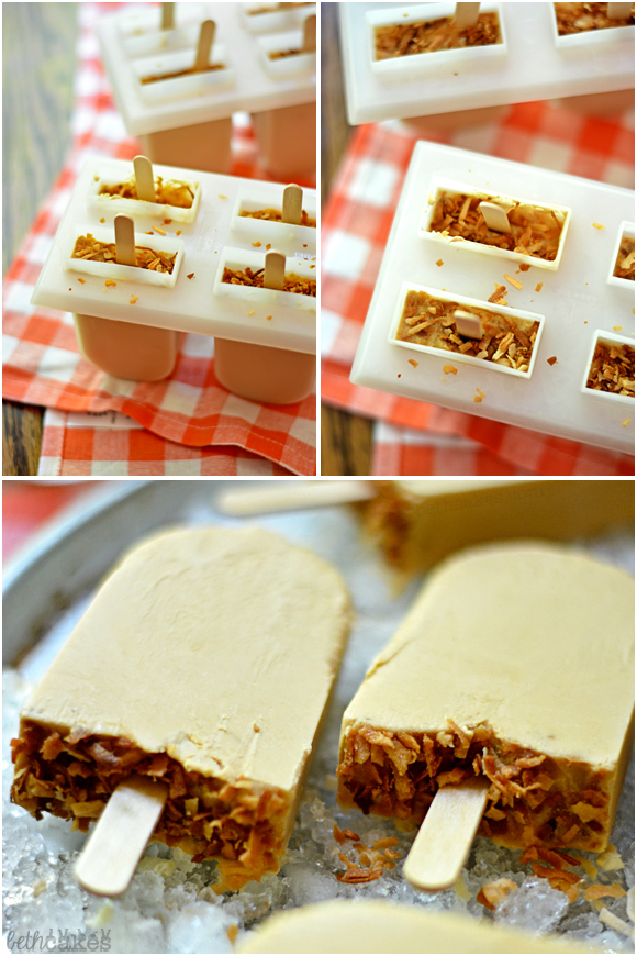 Creamy Toasted Coconut Popsicles - bethcakes.com