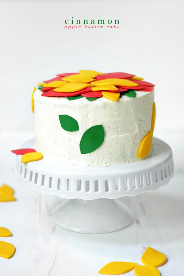 Cinnamon Apple Butter Cake! bethcakes.com