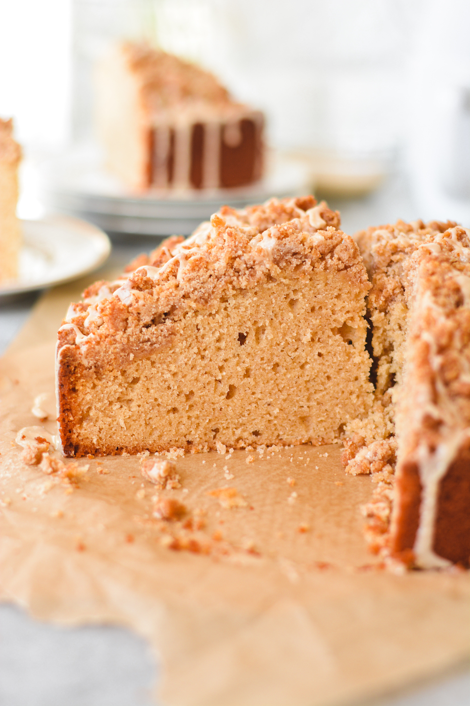 peanut butter crumb cake - bethcakes.com