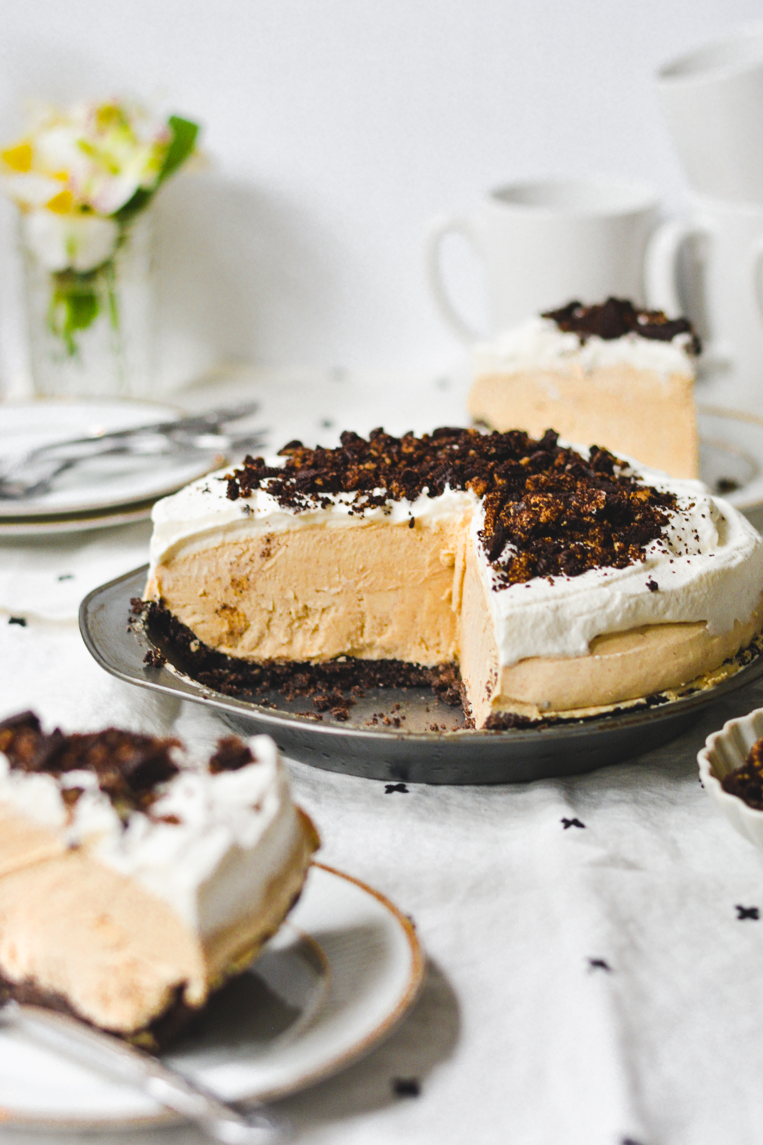 no-bake peanut butter pie - bethcakes.com