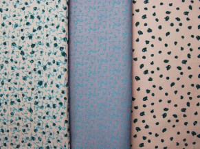 Screen Printed French Knots and Cross Stich