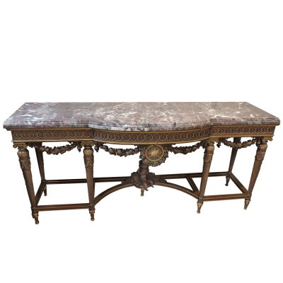 Louis XVI Marble Console Table