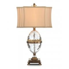 Cut Crystal Egg Table Lamp