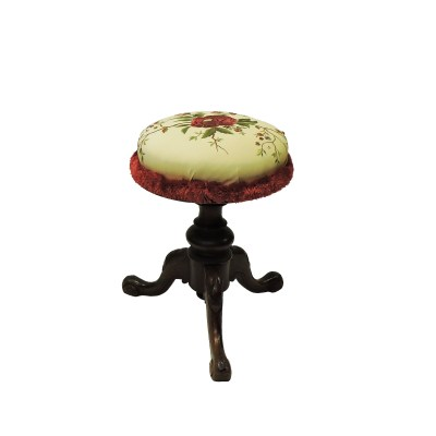 antique English Piano Stool