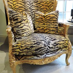 Tiger Print Chair Children Table And Set Wing Beth Claybourn Interiors