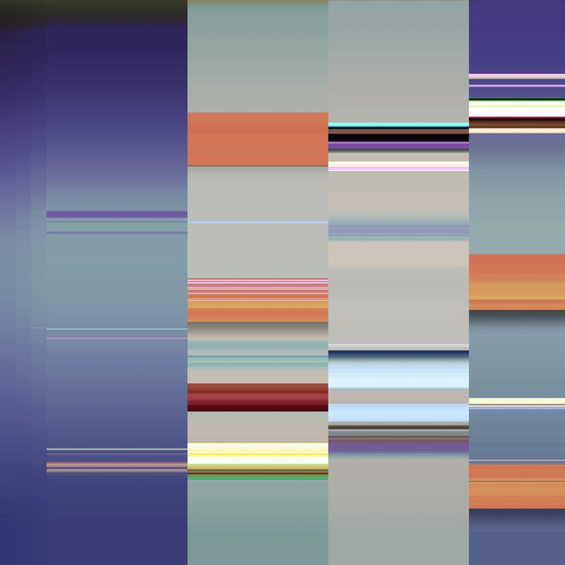 generative art glitch ribbon 7
