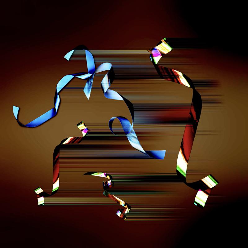 generative art glitch ribbon 2