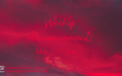 Weekly Announcments – May 31 2020