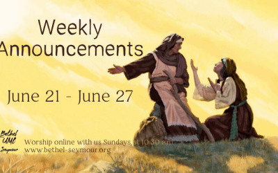 Weekly Announcements – June 21 2020