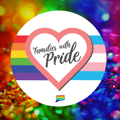 Bethel CT Pride's Families with Pride LGBTQ meetup for parents, caregivers, students and kids in the gay, lesbian, trans, transgender, queer, non-binary, ace, agender, asexual, bisexual, and pan community