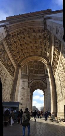 View inside the Arc de Triomphe