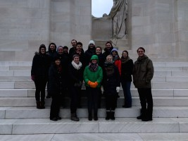 Our group at the Canadian Vimy Memorial