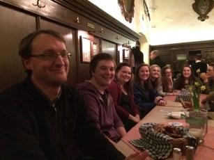 Supper together at the Augustiner Keller