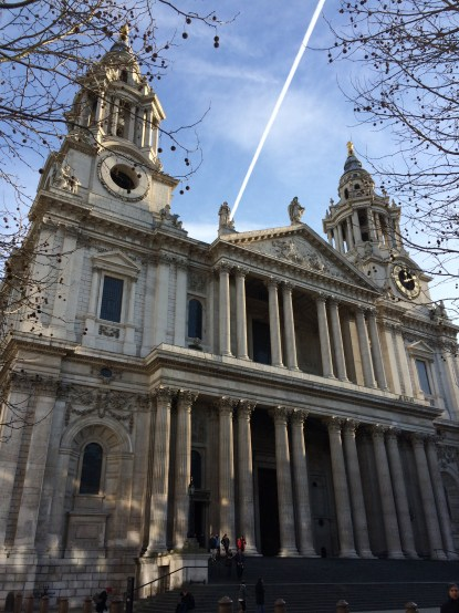 The west entrance to St Paul's Cathedral