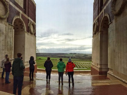 At the Thiepval Memorial to the Missing of the Somme (Angela Stephens)