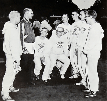 GW with 1961 Cross-Country Team