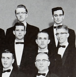 GW as a member of the Male Chorus in 1961-1962