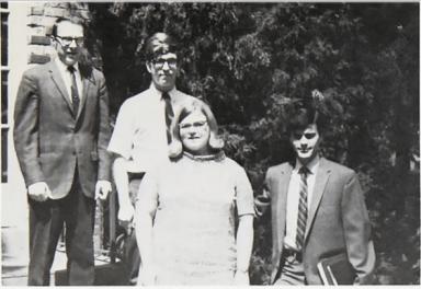 GW with Pi Gamma Mu officers in 1969