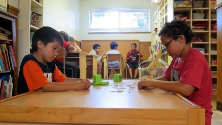 Lids playing a game in Bethel YDIC After school program