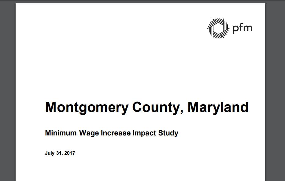 Authors of Montgomery County's Minimum Wage Study Quiet as