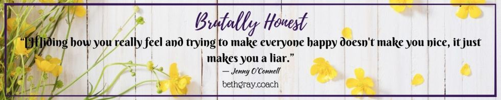 Jenny O'Connell, brutally honest, people-pleasing, authenticity, authentic self, living authentically