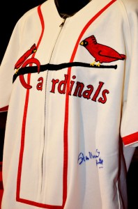 1946 Cardinal jersey, signed by Stan Musial, especially for Jason Motte